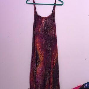 Spaghetti strap multi color dress.
